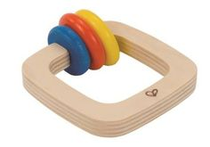 This Twister Rattle will shake up baby's playtime.