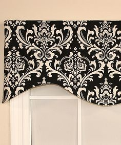 Look what I found on #zulily! RLF Home Black Regal Medallion Cornice Valance by RLF Home #zulilyfinds