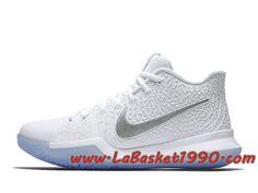 sports shoes 796d9 fcad8 Nike Kyrie 3 Chrome 852395-103 Chaussures Nike Basket Pas Cher Pour Homme  Blanc