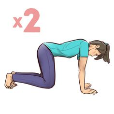Advice, tricks, plus guide with regard to getting the greatest result and ensuring the max usage of basic yoga for beginners Back Pain Exercises, Stretching Exercises, Stretches, Yoga Fitness, Health Fitness, Health Yoga, Women's Health, Stretching Program, Sixpack Workout