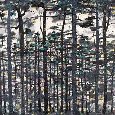 Wu Guanzhong's Pines | Chinese Painting | China Online Museum