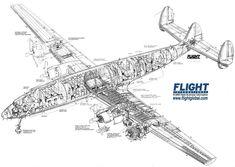 Lockheed 1649 Starliner cutaway drawing
