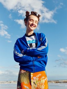 Angela Longton goes 90s raver in this editorial featured in Glamour UK