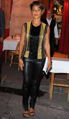 Good as gold! Jada Pinkett Smith continued to raise the sartorial stakes as she headed out...