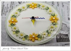 Paper quilling clock by Claire