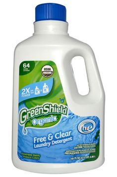 LIQUID LAUNDRY SOAP Green Shield Organic Free + Clear Laundry Detergent. This USDA Certified Organic laundry detergent meets Whole Foods Market's top tier Eco Scale Rating with sustainably-sourced ingredients, biodegradability, recycled packaging, and a small packaging footprint.