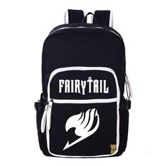 36.95$  Buy here - http://ai6es.worlditems.win/all/product.php?id=32612137293 - Cartoon Canvas Shoulders Bag Fairy Tail Students Teenagers School Book Laptop Bag Travel Backpack Large Capacity