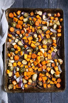 Deliciously wonderful roasted veggies with incredible flavor from fresh garlic, herbs, olive oil and a hint of parmesan cheese.