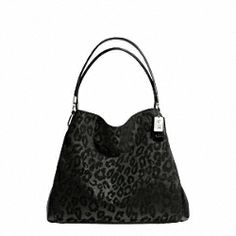Coach: MADISON CHENILLE OCELOT SMALL PHOEBE SHOULDER BAG