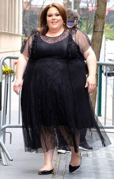 Chrissy Metz in a sheer black midi dress Curvy Women Fashion, Plus Size Fashion, Womens Fashion, Dress Outfits, Fall Outfits, Midi Dresses, Plus Size Dresses, Plus Size Outfits, Dating Black Women