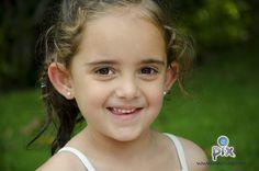 fotografía, retrato, niña, sonrisa, jardín