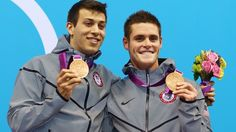 David Boudia and Nick McCrory grades the Bronze today for team USA in mens 30 meter platform diving!