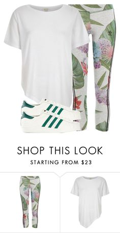 """Untitled #1514"" by noka76 ❤ liked on Polyvore featuring adidas Originals and River Island"
