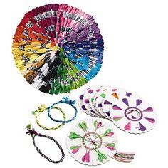 Friendship Bracelet Kit with Innovative Weave Wheels