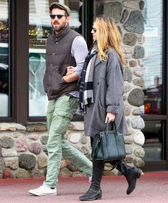 Spotted: First-time parents-to-be Blake Lively and Ryan Reynolds! The A-list couple took a stroll through Lake Placid, N.Y.
