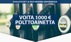 Voita 1000 € polttoainetta Smart Water, Water Bottle, Drinks, Drinking, Beverages, Water Bottles, Drink, Beverage
