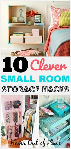 Small bedroom organization hacks #bedroom #organization #hacks #lifehacks #smallspaces #dormdecor