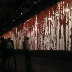 Walls dripping with chocolate at @Opening Ceremony runway show #ocfw14 #openingceremony