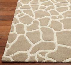 Giraffe rug for baby boys room