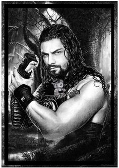 Roman Reigns Wrestling von Tattooteddy auf Etsy