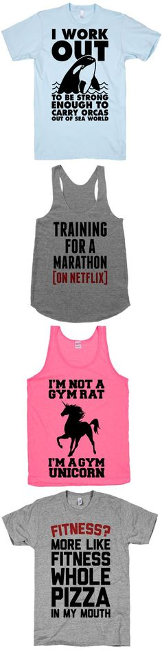 Add some humor to your workouts with our fitness collection.