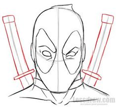 Drawing For Beginners How to Draw Deadpool Easy for Beginners Drawing Superheroes, Drawing Cartoon Characters, Marvel Drawings, Cartoon Drawings, Cartoon Cartoon, Deadpool Art, Deadpool And Spiderman, Deadpool Funny, Deadpool Movie