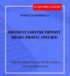 Care este diferența dintre impozit micro, profit și specific?