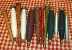 Vintage+Wooden+Spools+12+All+Unique+by+Treasuresbybetsy+on+Etsy,+$55.00