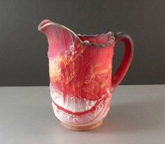 Imperial Red Slag Glass Pitcher / Windmill / End by UBlinkItsGone