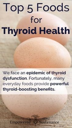 Top 5 Foods for Thyroid Health #thyroid