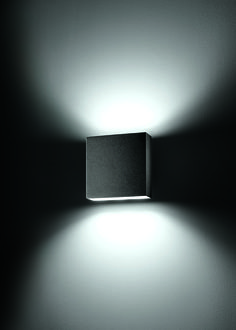 mox . outside luminaire . Außenleuchte . wall luminaire . Wandleuchte . aluminium black . Aluminium schwarz . LED