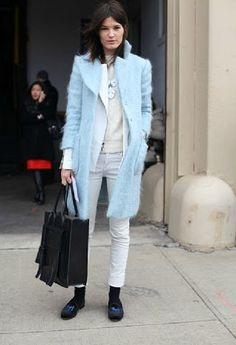 beautiful light blue coat