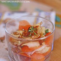 Salada de Nabo, Cenoura e Maçã ao Tomilho, Gengibre e Dijon