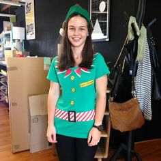 Meet Santana little helper Abby all ready to help you get your Christmas shopping nailed at @shutthefrontdoorstore in Takapuna #santaslittlehelper #shutthefrontdoorstore #stfdnz