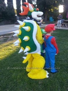 Quick and Easy Bowser Costume, No Sewing Required!... This website is the Pinterest of costumes