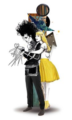 """You see, before he came down here, it never snowed. And afterwards, it did. If he weren't up there now... I don't think it would be snowing. Sometimes you can still catch me dancing in it."" by twins005 ❤ liked on Polyvore featuring art and edwardscissorhands"