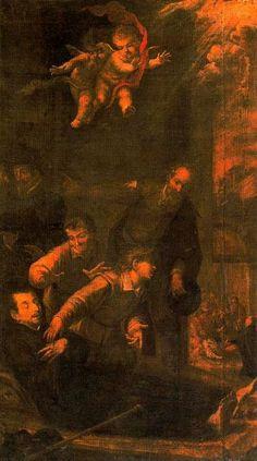 El trance de San Ignacio en el Hospital de Manresa, óleo de Juan De Valdés Leal (1622-1690, Spain)