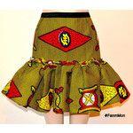 20 Off Afircan Print Ruffle Flounce Skirt Ankara Sexy Skirt Mini Short Flirty Girly Pencil