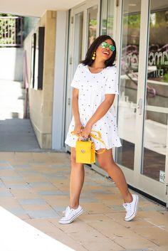 polka dot bow dress, summer dress, www.jadore-fashion.com