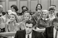 """April """"Photographs show actor Raymond Burr filming his television show Perry Mason with co-star Barbara Hale and others."""" From photos by Maurice Terrell and Robert Vose for the Look magazine assignment """"Raymond Burr: Perry Mason's prisoner. Vintage Photographs, Vintage Photos, 1950s Culture, Perry Mason Tv Series, Shorpy Historical Photos, Raymond Burr, Vintage Television, Look Magazine, Sweet Memories"""