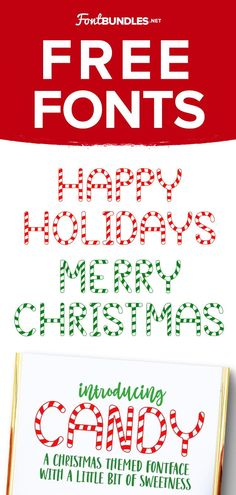 Free Holiday Font for Christmas Cricut projects and Christmas design. Perfect for Christmas shirt designs, mugs and party invitations #holidayfont #christmasfont #cricut #silhouette Holiday Fonts, Christmas Fonts, Christmas Design, Christmas Candy, Best Free Script Fonts, Handwritten Fonts, New Fonts, Free Fonts For Cricut, Cricut Fonts