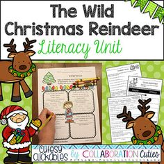 The Wild Christmas Reindeer Mini Literacy Unit Aligned wit Writing Activities, Writing Ideas, Winter Words, Goldilocks And The Three Bears, Snow Much Fun, 2nd Grade Reading, Mentor Texts, Fun Math, Reindeer