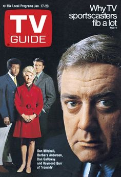 TV Guide Cover, January 17, 1970. Barbara Anderson, Raymond Burr, Don Galloway, Don Mitchell.
