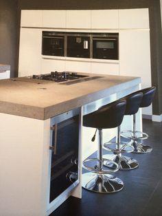 Steenstrip achterwand keuken kitchen pinterest - Keuken met kookeiland table ...