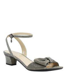 b1b20c41ca7eae J Renee Davet Glitter Fabric Rhinestone Bow Dress Sandals  Dillards  Rhinestone Bow