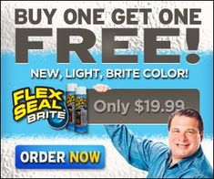 Flex Seal Brite Flex Seal Brite sprays out a liquid, seeps into cracks and holes, and dries to a watertight, flexible rubberized coating! Flex Seal Brite works just as well as the original sealer, …