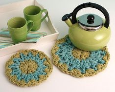 Classic Trivets - I recommend using cotton yarn if you are going to use this with hot items.
