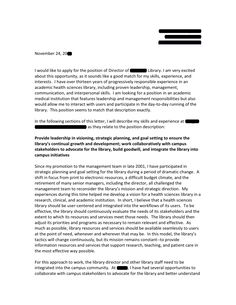 Sample Cover Letter For Director Student Affairs Cover Letter For