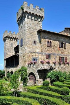 Definitely stay here for a bit -  Castello di Panzano, Chianti region, Italy. From €22,000 per week. Co