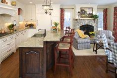 cozy kitchen / hearth room